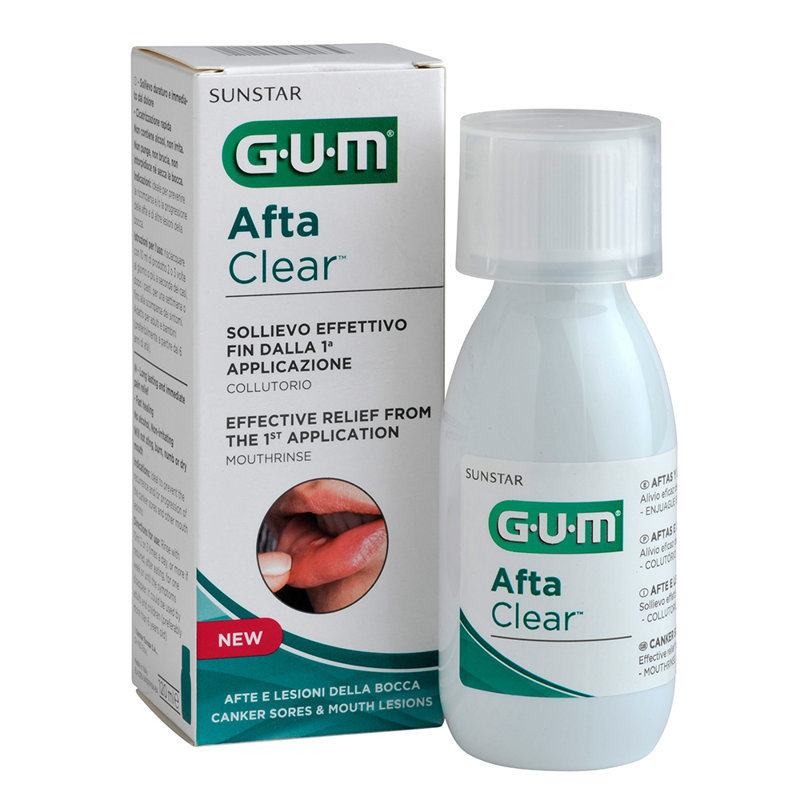 GUM® Aftaclear Skalojamais līdzeklis 120ml